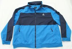 Reebok Mens Size 5x Ice Blue Spell Out Logo Water Resistant Ski Jacket