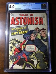 Tales To Astonish 35 1962 - 1st Ant-man In Costume - Cgc 4.0 - Key