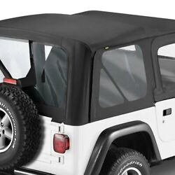 For Jeep Wrangler 88-95 Bestop 79120-01 Replace-a-top Black Sailcloth Soft Top