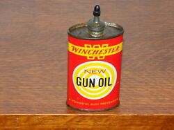 Vintage Winchester New Gun Oil 3 Ounce Empty Can