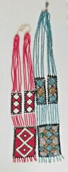 Vintage Native American Indian Hand Beaded Necklaces Lot Of 2