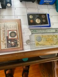 🔥 Unique Error Coin 1970-s Proof Set With Silver Pmg Mexico Note Currency