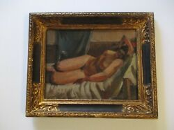 Antique 19th To 20th Century Nude Painting Masterful Impressionist Expressionist