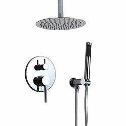 Homary Contemporary Single Handle Wall Mount Shower Combo System High Pressur...