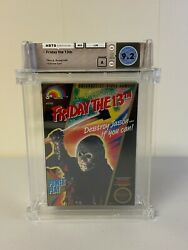 Friday The 13th Black Round Seal Soq Nintendo Nes New Sealed Wata 9.2 A