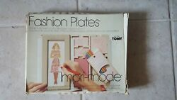 Vintage 1978 Fashion Plates By Tomy - Drawing Design Kit + Flip And Fold