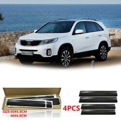 4pcs Carbon Fiber Car Door Sill Scuff Stickers Welcome Pedal Protecter Film