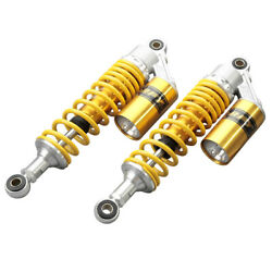 320mm Air Shock Absorbers Suspension Adjustable Yellow Universal Motorcycle