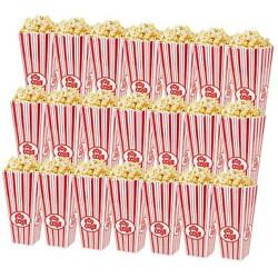 21 Pack Plastic Open-top Popcorn Boxes Reusable Popcorn Containers