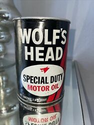 Vintage Wolfandrsquos Head Special Duty Motor Oil 1 Quart Can New Unopened