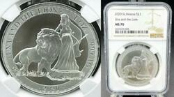 2020 British St. Helena 1 Ounce Una And The Lion Silver Coin Ngc