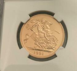 Regular Appraisal Rare 42 Pieces 1991 United Kingdom Sovereign Gold Coin Ngc