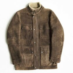 Purple Label [mouton Motorcycle Jacket] M Leather Menand039s Japan Used