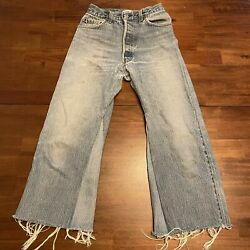 Re/done Levi's Flare Low-waist Vtg Distressed Sewn Patchwork Denim Jeans Size 25