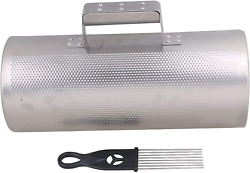 Lovermusic 13x5.12inch Stainless Steel Guiro Latin Musical Instrument With Scrap