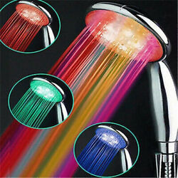 Led Shower Head 7 Colors Changing Handheld Shower Home Bathroom Water Glow Light