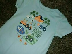 8e Nwt 12-18m Gymboree Little Tractor Farm Romper Sleeper Pants Outfit