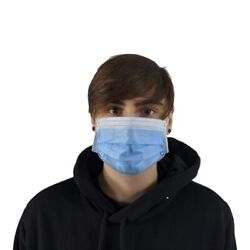 100/200/300/400 + Face Mask Mouth Cover Surgical Dental Disposable 3-ply Earloop