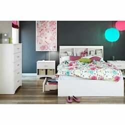 South Shore Step One Full-size Mates Bed Frame With Drawers Pure White Full