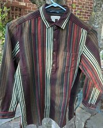 New Vintage The Territory Ahead Long Sleeve 1/2 Button Textured Sw Shirt Mens Xl