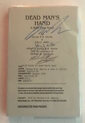 Wild Cards Vii Dead Manandrsquos Hand By George Martin-john J. Miller Signed Arc/proof