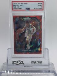 Lamelo Ball 2020 Panini Prizm 278 Red Ice Psa 9 Mint Rookie Roy Flash Auction