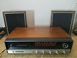 Panasonic Fm-am Multiplex Stereo Re-7800 8-track With Speakers