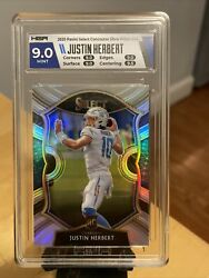 2020 Select Justin Herbert Concourse Silver Prizm Rookie Rc 44 Hga 9 Mint D697