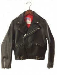 Lewis Leathers Bud Gang Design Double Riders Jacket Size 36 Leather Black Japan