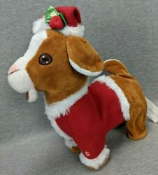 Gemmy Industries Animated Singing Screaming Hopping Christmas Goat