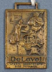 De Laval Cream Separator And Milkers Brass Watch Fob Sf1a3-21