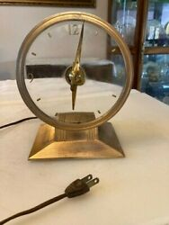 Vintage Haddon Golden Visionette Mystery Clock. Motor Hums. Doesnand039t Keep Time