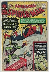 Amazing Spider-man 14 5.0 Vg 1st Goblin Nice Eye Appeal Deep Rich Cover Colors