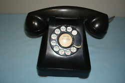 Vintage Telephone Western Electric Bell System F1 Black Rotary Dial Desk Phone