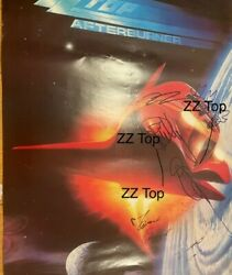 Huge Zz Top Billy Gibbons Dusty Hill Beard Autogramm Autograph Fully Signed