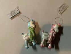 New 2017 My First Christmas Baby Boy Baby Girl Ornaments Matching Giraffes
