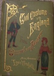 Book Civil Civic Court Uniforms Costume England Illustrated Color Plates
