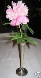 Antique Reed And Barton Sterling Silverplate Flower Garden Table Vase Plant Silver