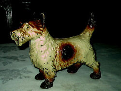ANTIQUE SCOTTY DOG DOORSTOP CAST IRON HOME ART STATUE WEIGHT TERRIER DOOR STOP