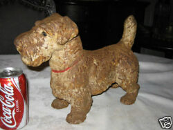 ANTIQUE HUBLEY CAST IRON SEALYHAM TERRIER DOG ART STATUE HOME PATIO DOORSTOP
