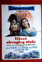 Knights Of Round Table Thorpe Ava Gardner Robert Taylor 1953 Exyu Movie Poster