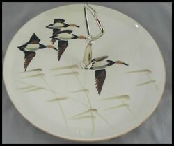 Red Wing Pottery Flight Pattern Tidbit Plate Excellent Condition