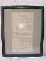 Original Data Sheet From Tube 300b Western Electric Old Triode Well-framed