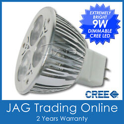 12v 9w 3x3w Cree Led Cool White Mr16 Dimmable Down Light Bulb- Downlight Globe