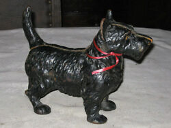 ANTIQUE HUBLEY SCOTTY DOG DOORSTOP CAST IRON SCOTTISH TERRIER GARDEN STATUE