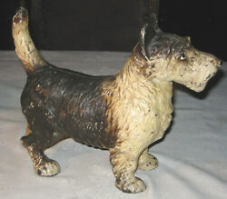 ANTIQUE LITTCO CAST IRON SCOTTISH TERRIER DOG ART STATUE HUBLEY GARDEN DOORSTOP