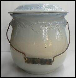 Red Wing Pottery Pot With Lid And Handle