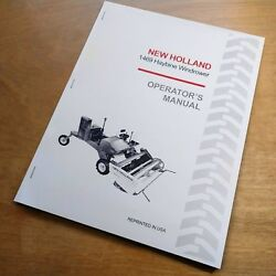 New Holland 1469 Haybine Swather Mower Conditioner Operator's Guide Manual Nh