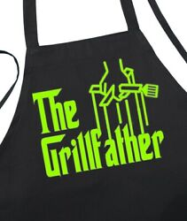 Funny Black Barbecue Aprons For Men The Grillfather Fathers Day Apron Ideas