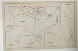 1893 Original Map,rockville,stafford Springs,tolland,coventry Ct Conn Old Vintag